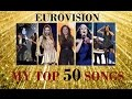 Download My Top 50 Eurovision Songs [2000- 2016] MP3 song and Music Video