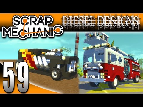 Scrap Mechanic Gameplay : EP59: Painting with Diesel! (Let's Play 1080p)