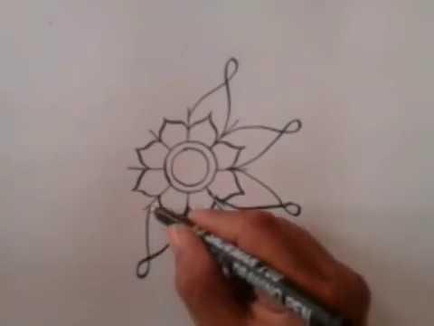 How To Creat Vignette Mandala Cara Membuat Vignet Batik Youtube