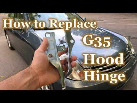 How to Replace Infiniti G35 Hood Hinge