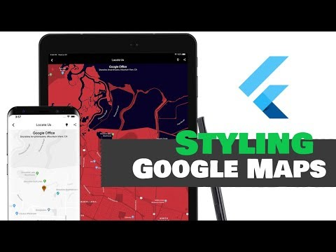 Flutter: Styling Google Maps For Multiple Themes   Android & iOS    Official Plugin