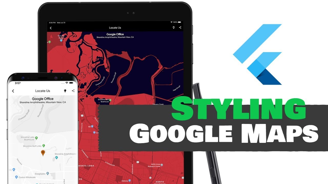 Flutter: Styling Google Maps For Multiple Themes | Android & iOS | Official  Plugin