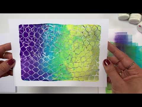 Recycle! Cardboard Printing with Gelli Arts® by Birgit Koopsen