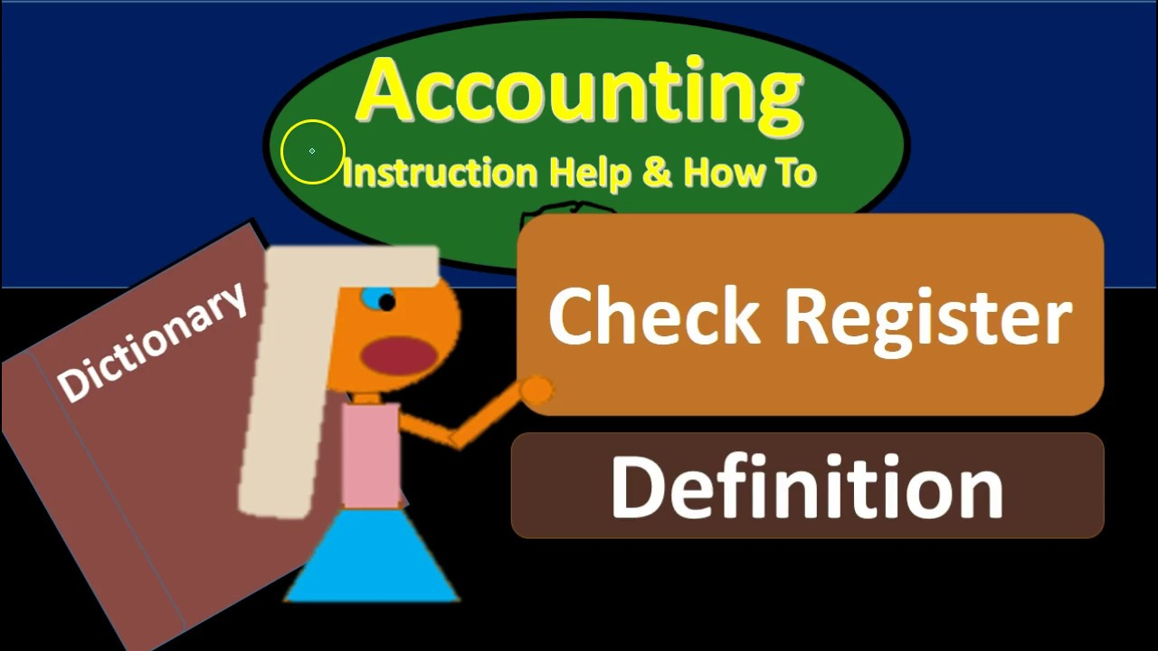 check register definition what is check register youtube