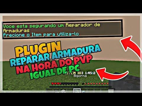 PLUGIN REPARAR ARMADURA NA HORA DO PVP IGUAL DE PC - MCPE 10.15.10   POCKETMINE, GENISYS, MC-NODE