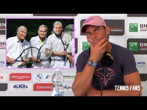 """Rafael Nadal """"Federer, Djokovic & I are OLD"""" - Rome 2021 (HD)"""