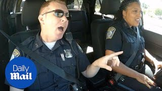Boston police Cop Pool Karaoke of God Bless America - Daily Mail
