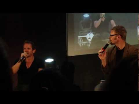 jus in bello 3 - mark pellegrino and sebastian roché imitating each other