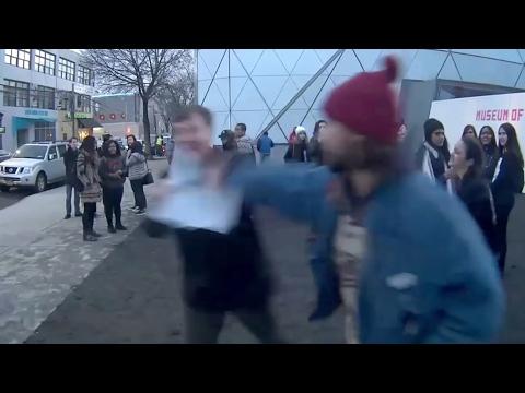Shia LaBeouf Beats Up Racist Guy On His Livestream