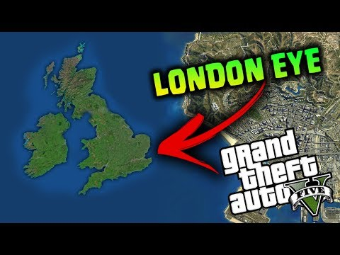 LONDRA SU GTA 5 - ANDIAMO SUL LONDON EYE - GTA 5 MOD ITA