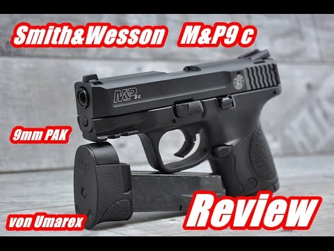 smith wesson m p 9c 9mm pak review test youtube