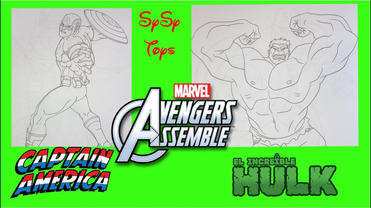 Marvel Avengers Super Heroes Coloring Pages Hulk and Captain America ...