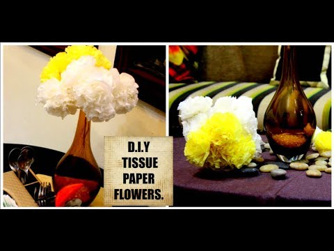 D. I .Y TISSUE PAPER FLOWER || BEAUTIFUL FLOWER BUNCHES || #DIWALISERIES (DAY11)