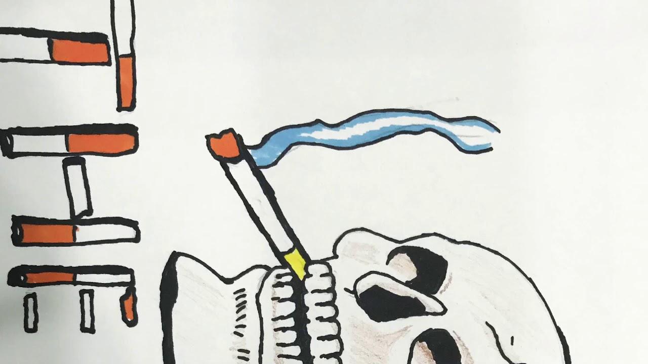 رسم عن التدخين Youtube