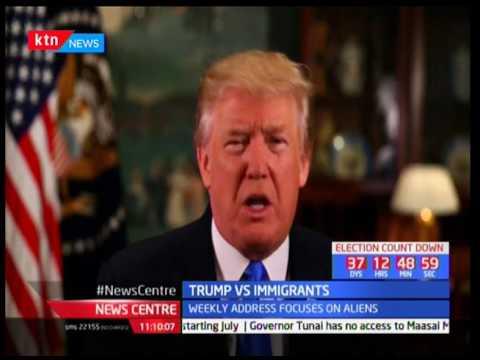US president Donald Trump on Illegal immigrants