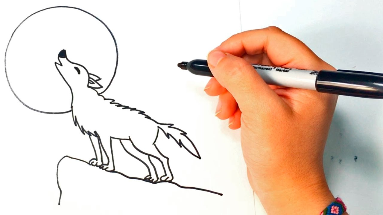 How To Draw A Wolf For Kids Wolf Easy Draw Tutorial Youtube