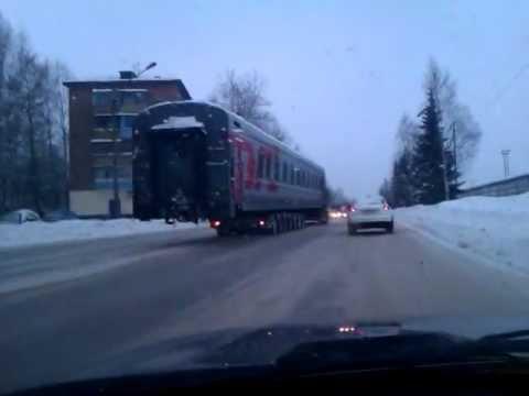 Движение вагона по улице.3gp