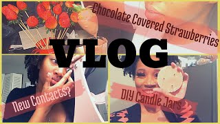 Diy Chocolate Covered Strawberries & Candle Jars | A Week In My Life Vlog