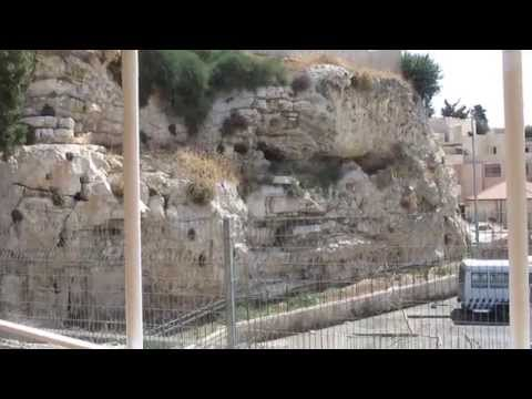 The story of Golgotha (Calvary), the place of the crucifixion of Jesus (The Garden Tomb, Jerusalem)