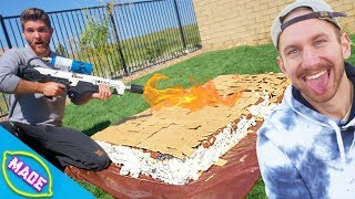 We Made The World's LARGEST S'more with The Dangie Bros!