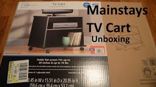 Unboxing Wal-Mart Mainstays TV Cart