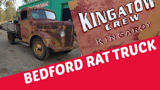 Kingatow Crew // k model bedford ratrod mad patina truck...car show prep ..old school door decal