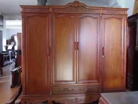 ĐỒ GỖ ĐỨC HIỀN: Tủ áo 4 buồng, gỗ Hương, 2m2,  6-5-2013