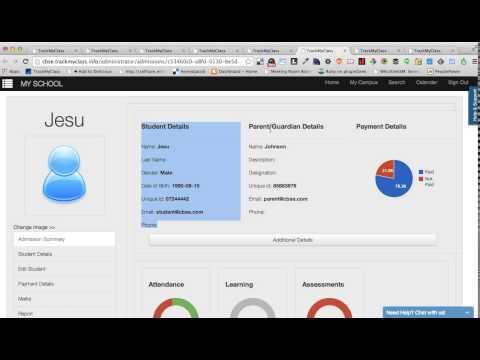 TrackMyClass Administrator Demo