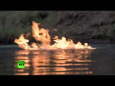River on fire! Aussies literally set water ablaze near fracking site