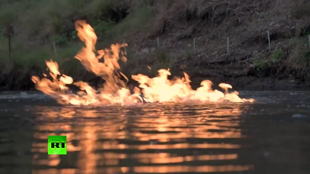 River on fire! Aussies literally set water ablaze near ...