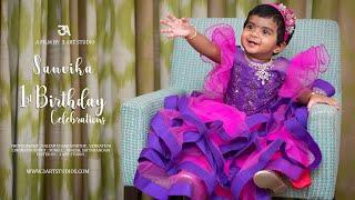 3 Art Studio I Sanvika 1st Birthday Celebrations I 2020 I  Baby Girl