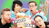 The Try Guys Play Giant Jenga Truth Or Dare