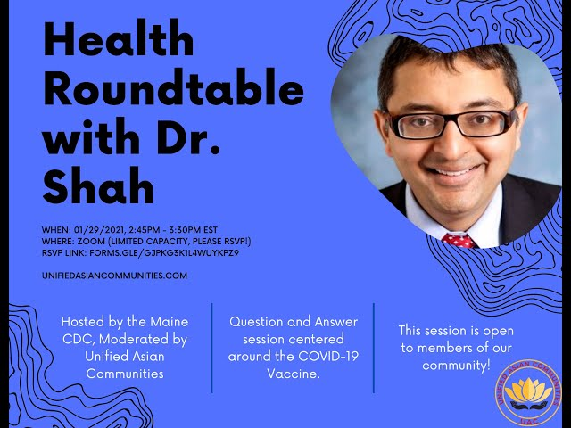 Health Roundtable With Dr. Nirav Shah