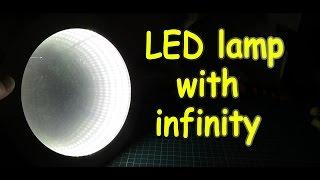 Как сделать простое бесконечное зеркало своими руками / LED lamp - infinity mirror