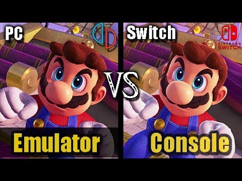 [Switch vs Yuzu] Super Mario Odyssey (PC vs Console) (NEW Graphics  Comparison 2019)