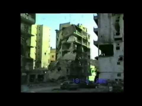 Ain el Remaneh under fire, February 19, 1990