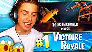 JE FAIS TOP 1 SUR LE NOUVEAU MODE TOUS ENSEMBLE SUR FORTNITE BATTLE ROYALE !!! - 11ème jour de l'Été