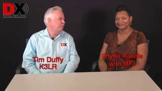 phyllis randle from mfj is interviewed by tim duffy k3lr at dx engineering in tallmadge ohio