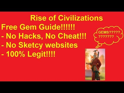 Rise of Civilizations (ROC)- How I get free gems. No Hacks or Cheats required.