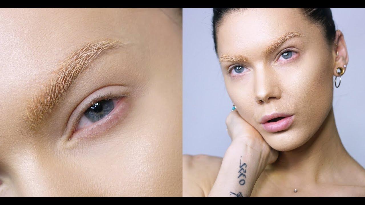 How To Fake bleached brows - Linda Hallberg Tutorials