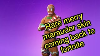 Rare skins and items coming back to fortnite *Leaked*