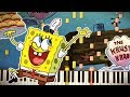 Synthesia: Spongebob - KRUSTY KRAB THEME (Rake Hornpipe) | Piano Tutorial