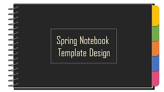 [PPT 템플릿] 스프링노트 디자인 템플릿 제작(파워포…