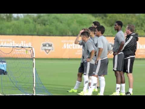 Messi and the Argentina national team training with the Houston Dynamo U18's