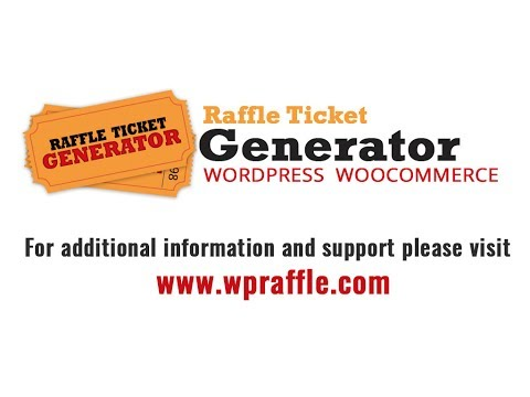 Configure Online Raffle Tickets with wooCommerce and Wordpress