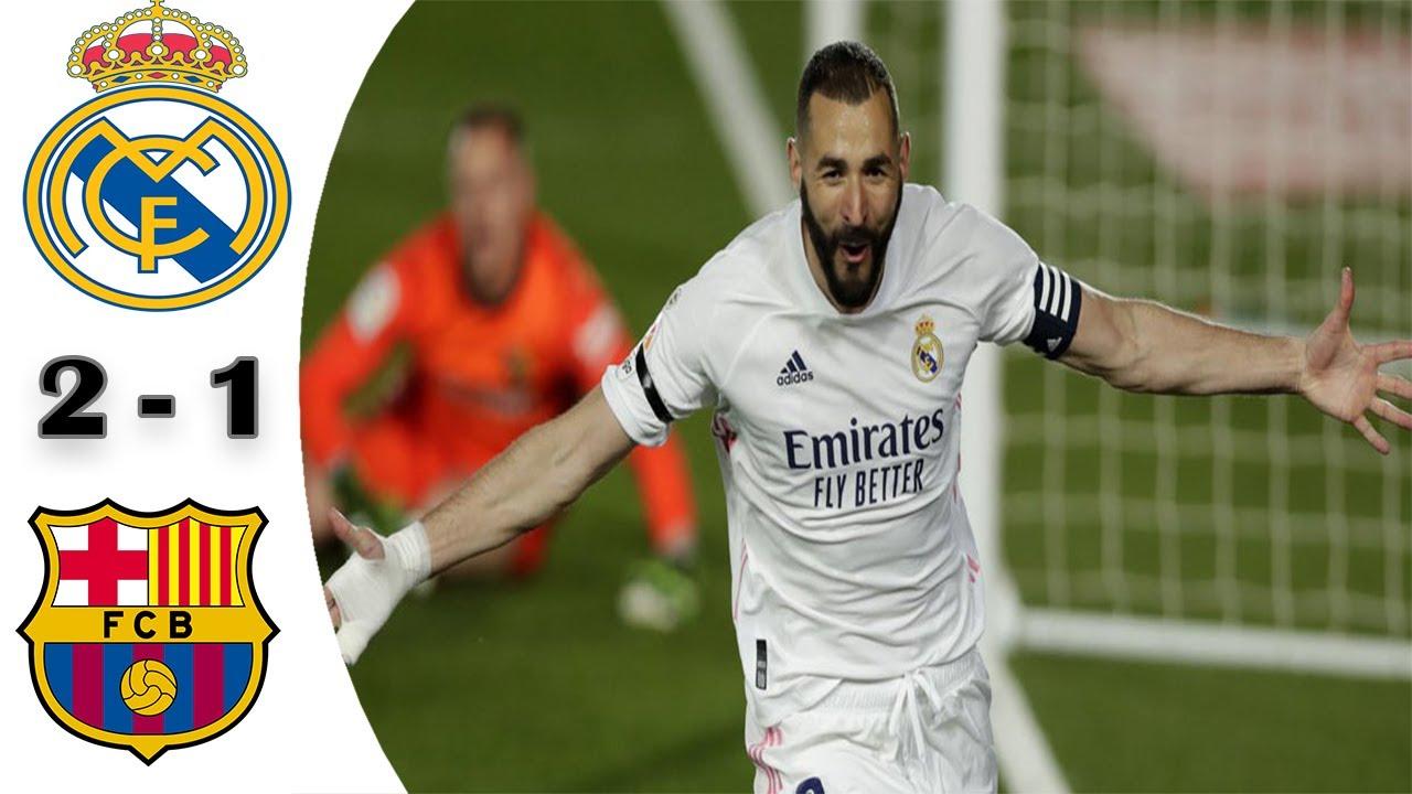Real Madrid vs Barcelona (2-1)   Highlights
