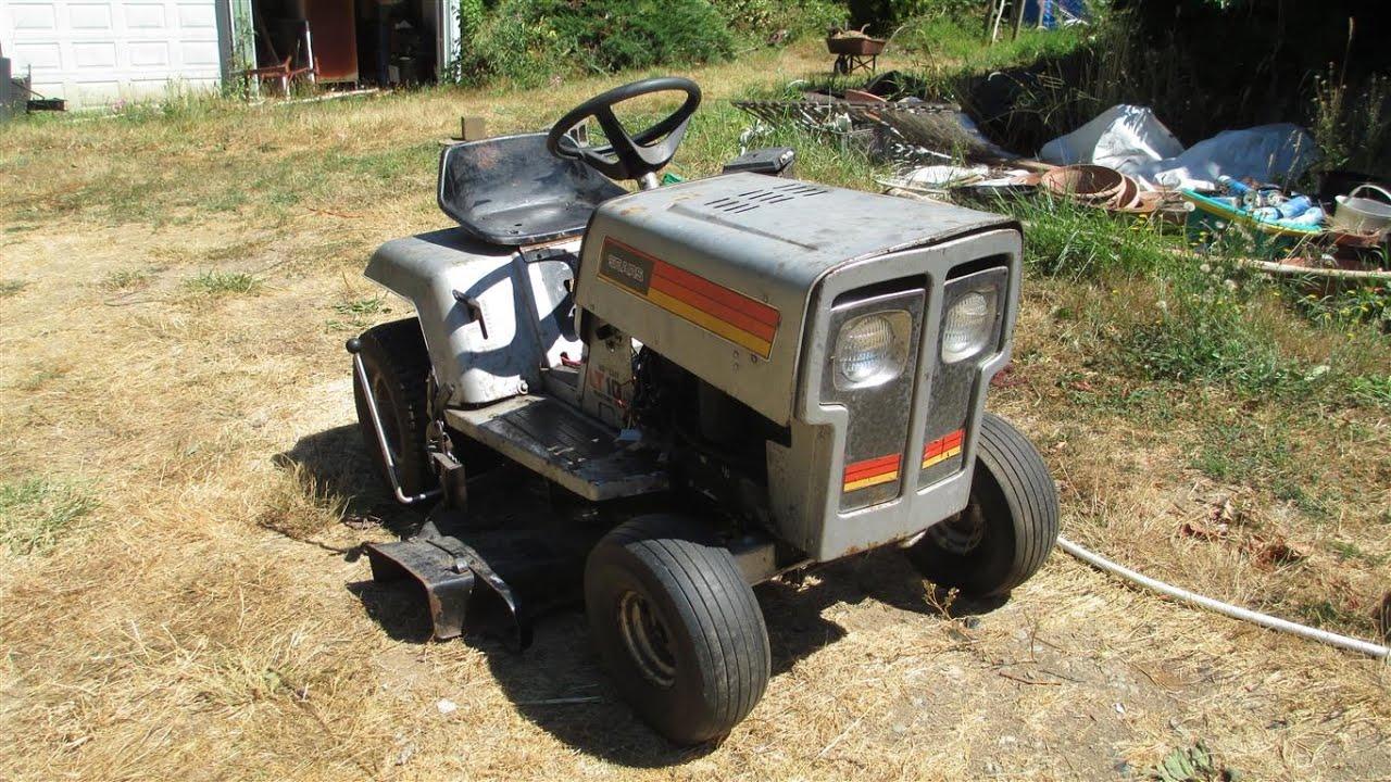Sears 36 Inch Cut Lt 10 Hp Electric Start Lawn Mower Youtube