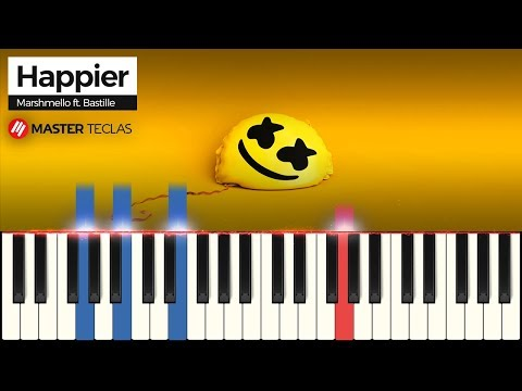 💎 Happier- Marshmello ft Bastille  Piano Tutorial 💎