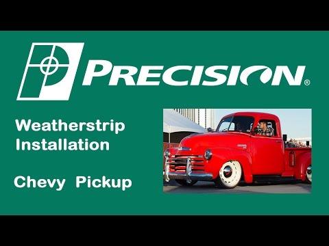 1947-1966 Chevy Truck Rear Window Weatherstrip Installation