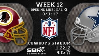 NFL Free Picks 2012 Week 12 Thanksgiving Games: Washington Redskins vs Dallas Cowboys